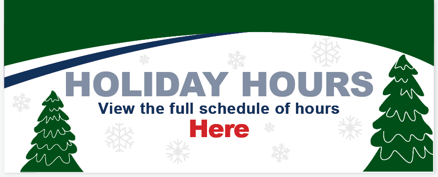 U1's Holiday Hours