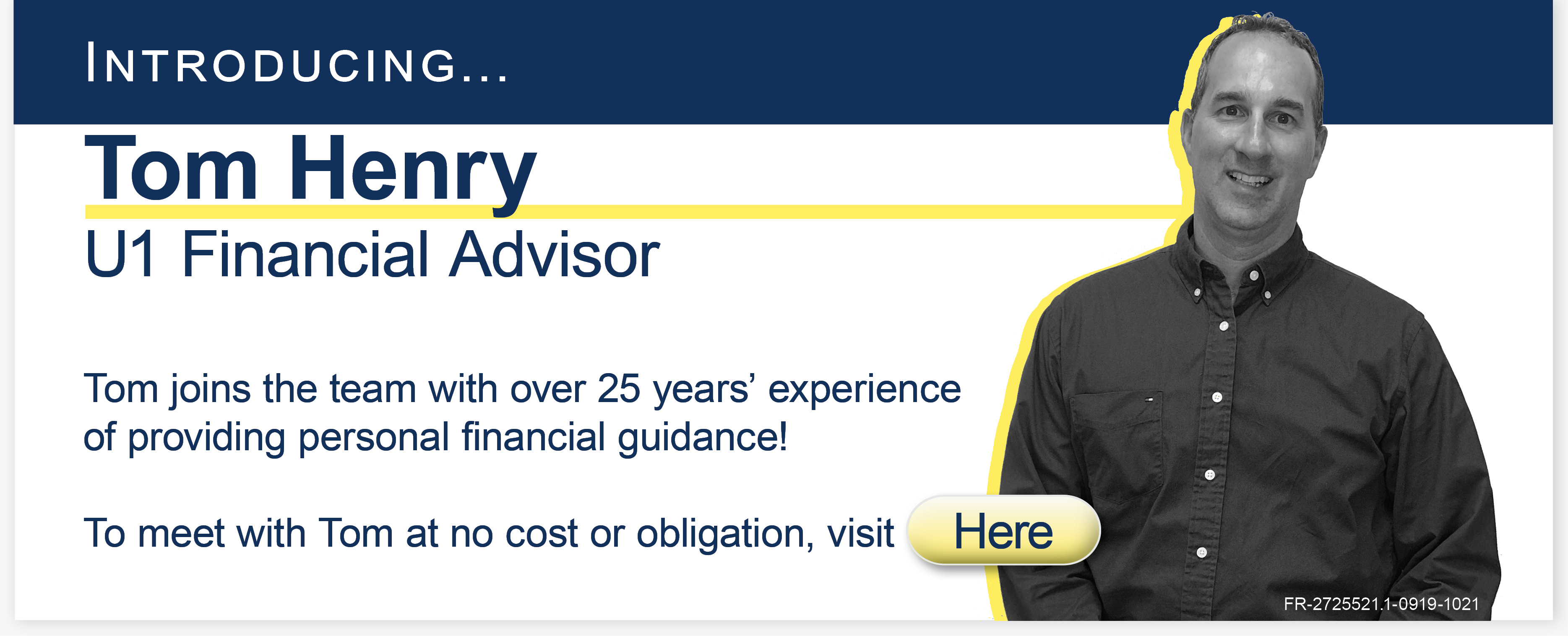 Universal 1 Financial Advisor Tom Henry