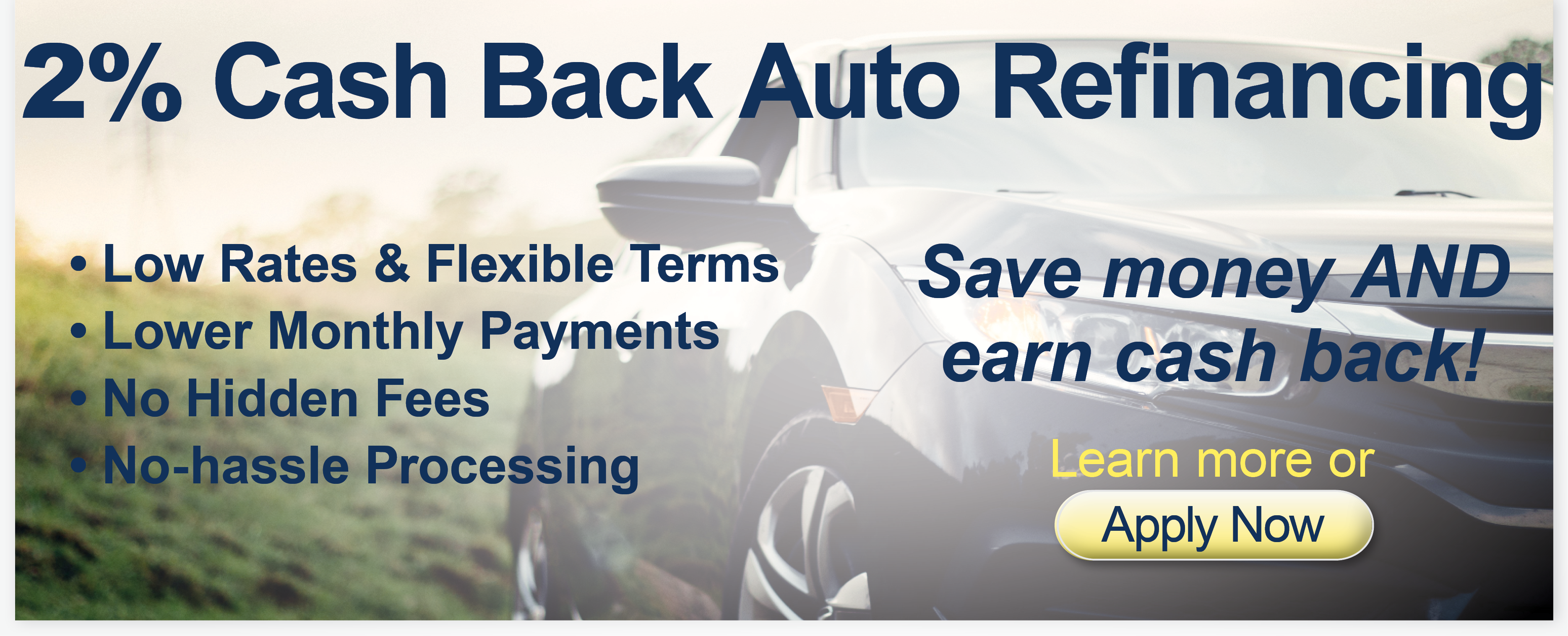 2% Cash Back Auto Financing