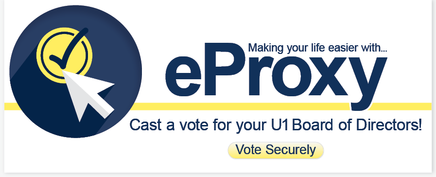 Universal 1 Credit Union eProxy vote for board of dirctors