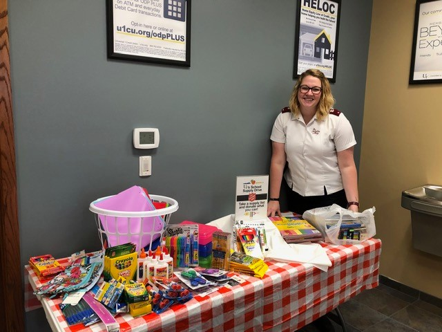 Salvation Army School Supply donation