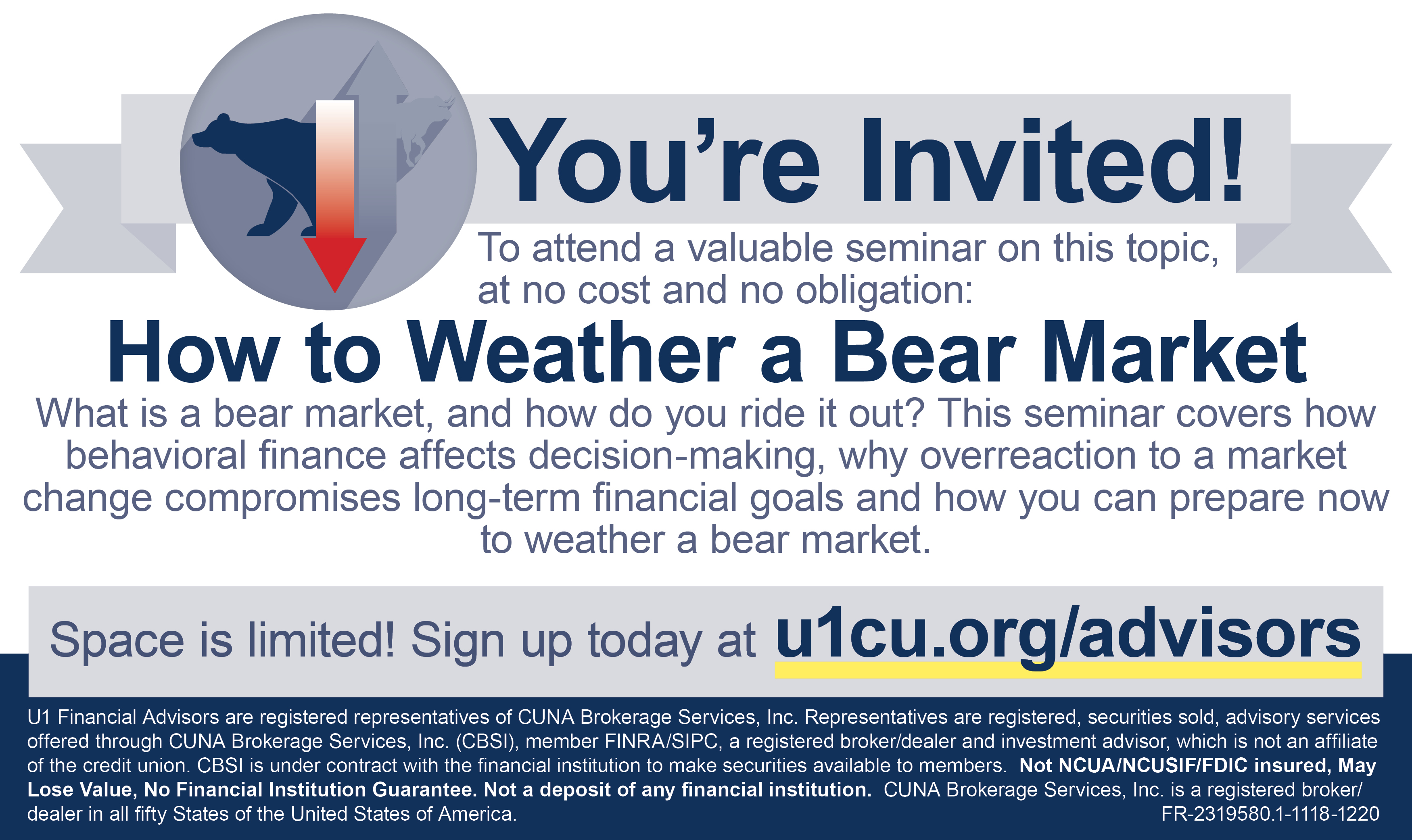 Financial Advisors Seminar - How to Weather a Bear Market